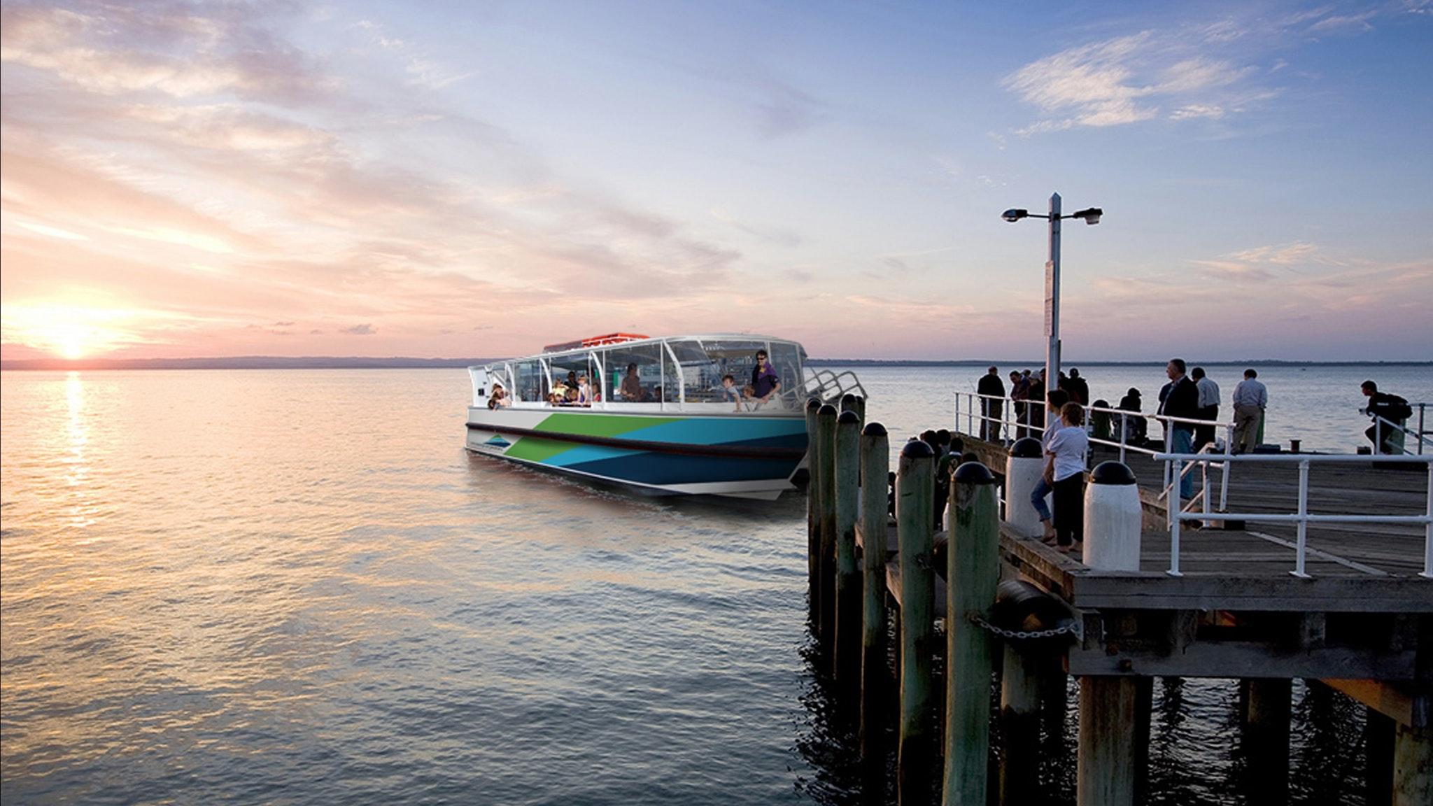 Western Port Ferries arriving at Phillip Island