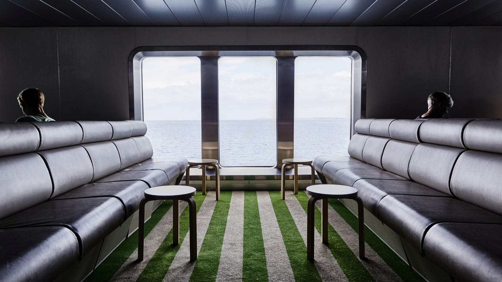 Lounge deck aboard Searoad Ferries
