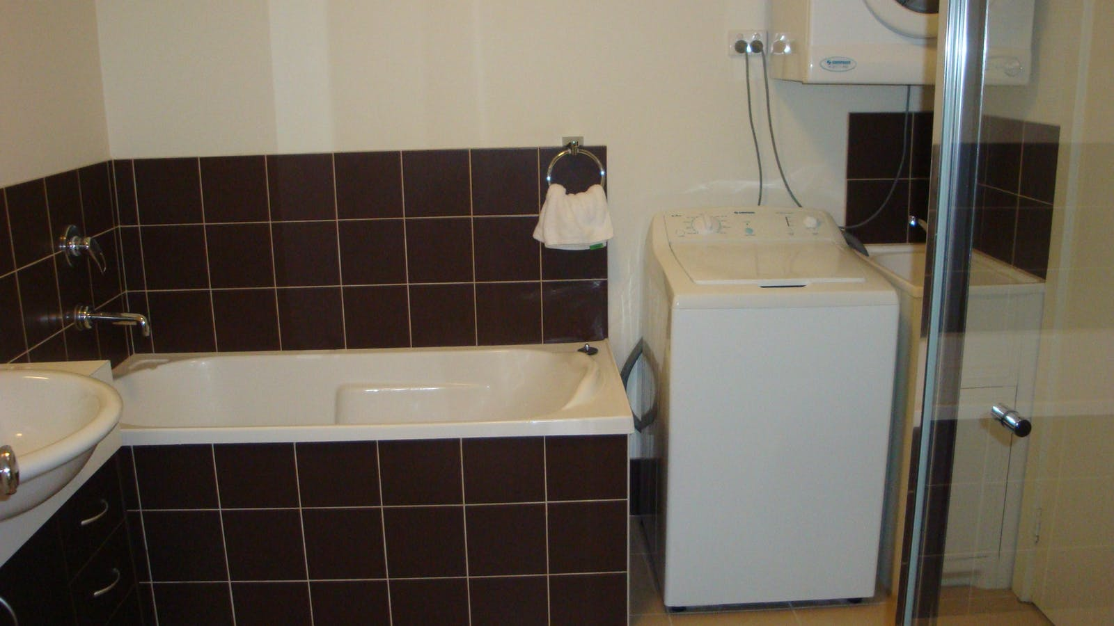 Bathroom in a one or two bedroom apartments