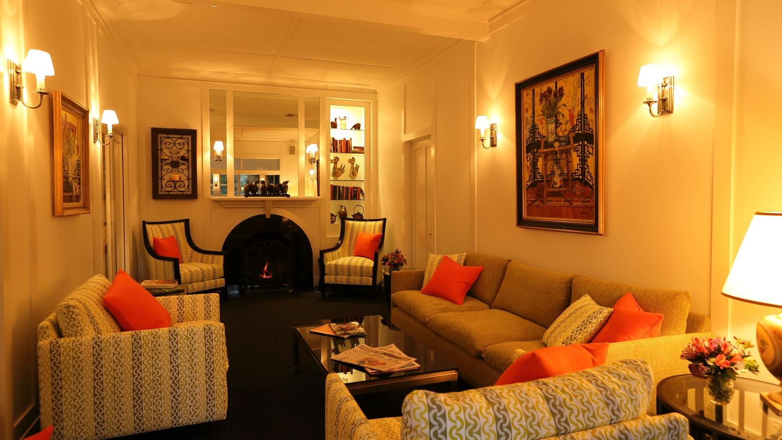 Relax in Holmwood's elegant Guest Lounge