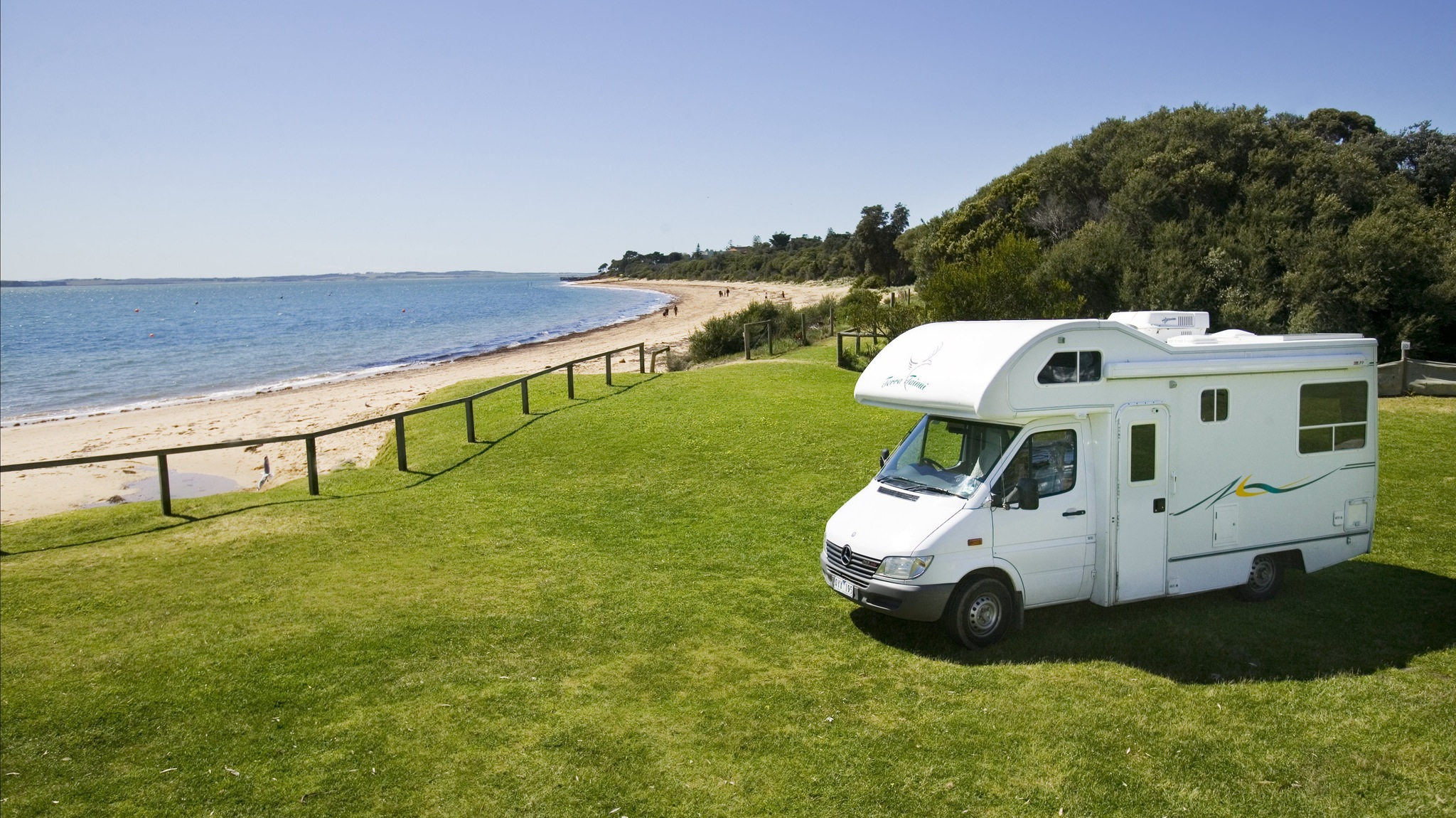 Camping right on the Beach