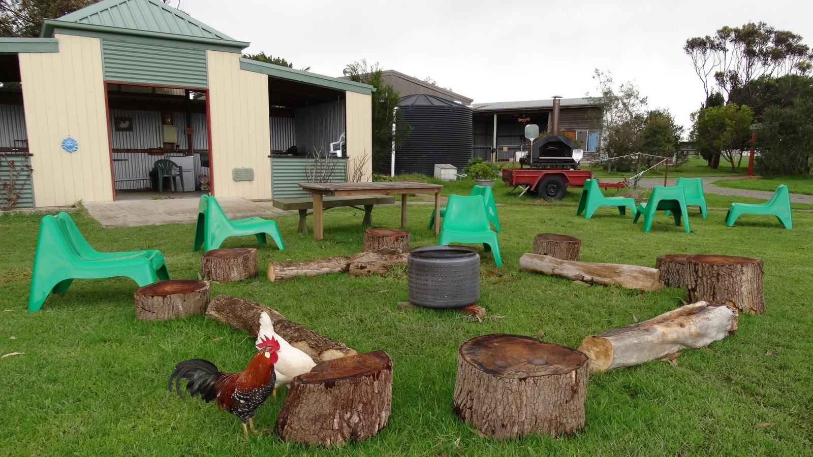 Communal area - pizza oven, barbecue area, fire pit and more
