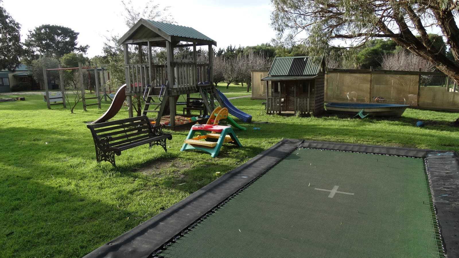 Outdoor play area with everything you could ask for
