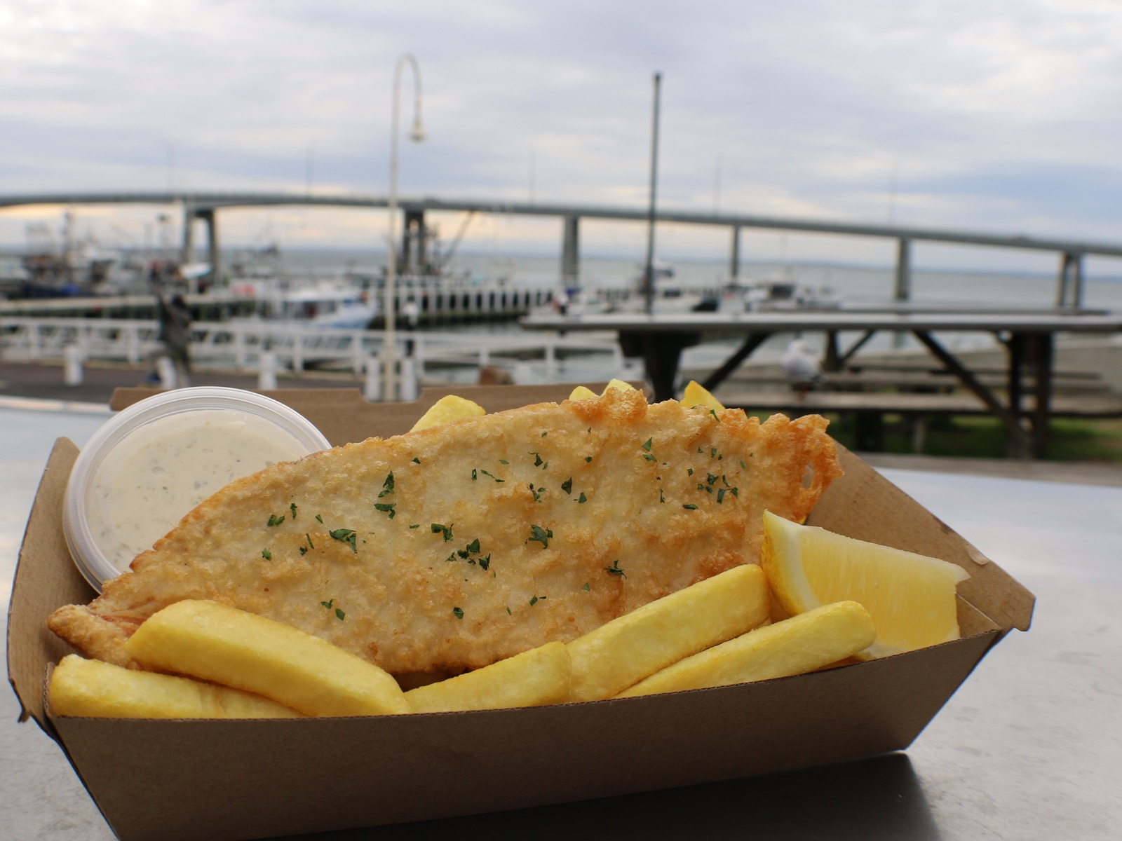 Fish & Chips straight off the boats