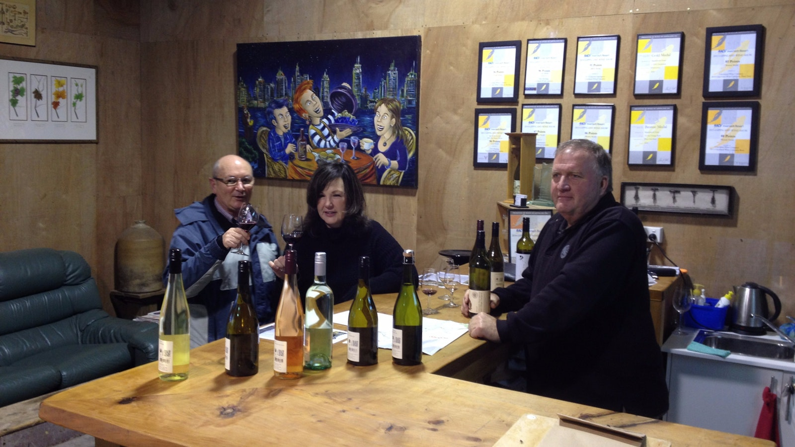 Tasting wines with the winemaker at Gippsland Wine Company