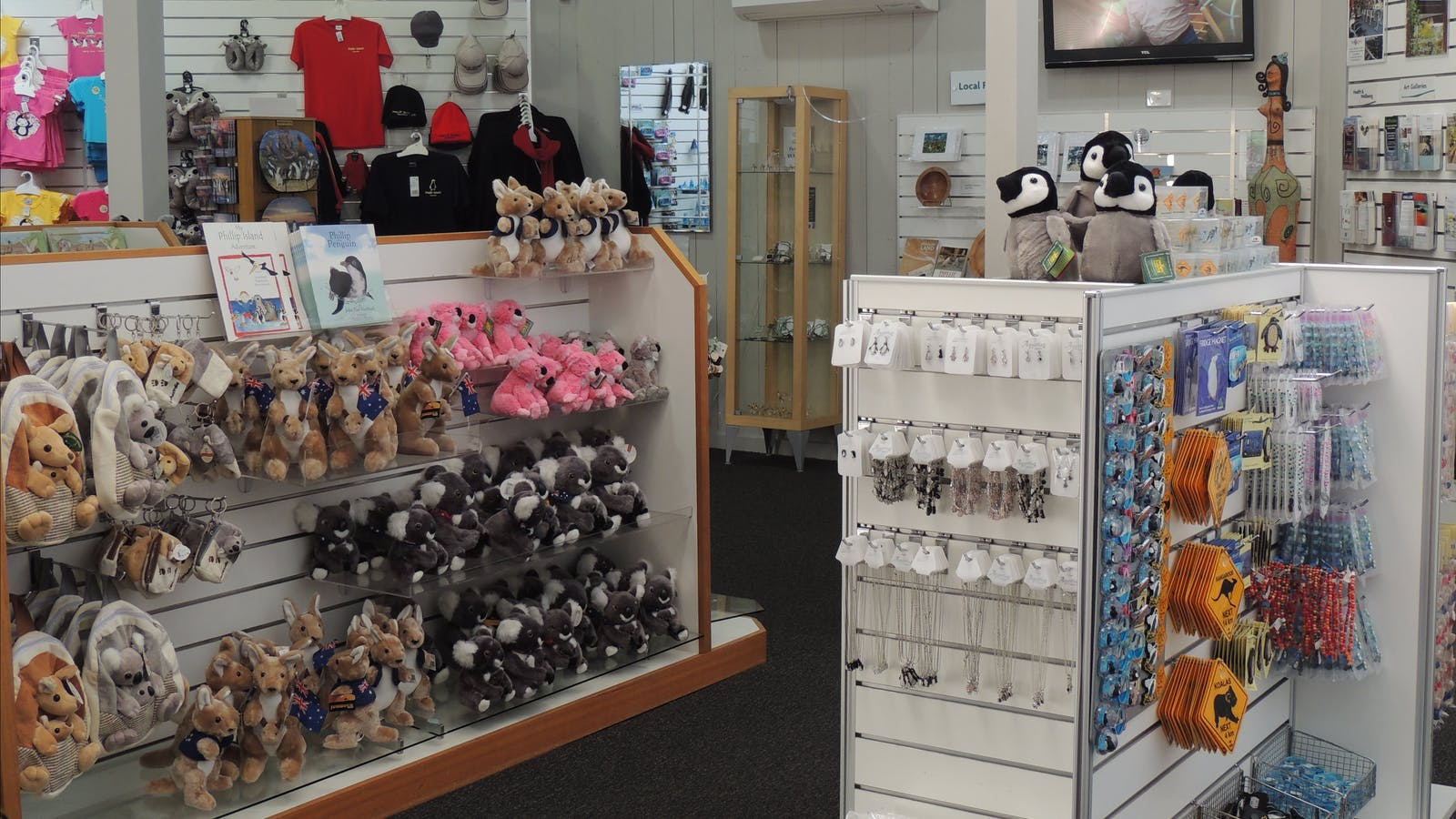 Lots of shopping to be done at Phillip Island Visitor Information Centre