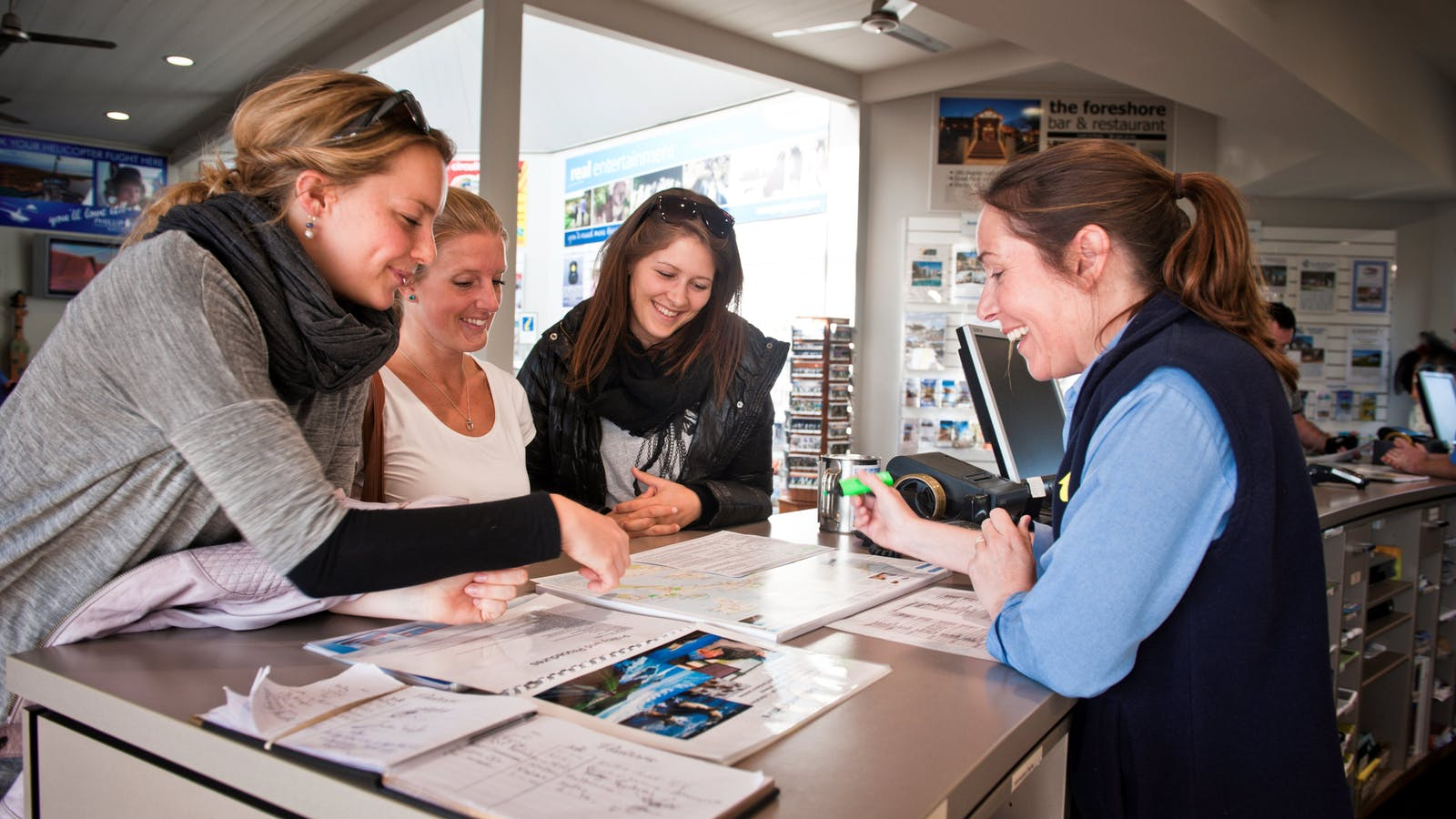 Welcoming visitors to the Phillip Island Visitor Information Centre