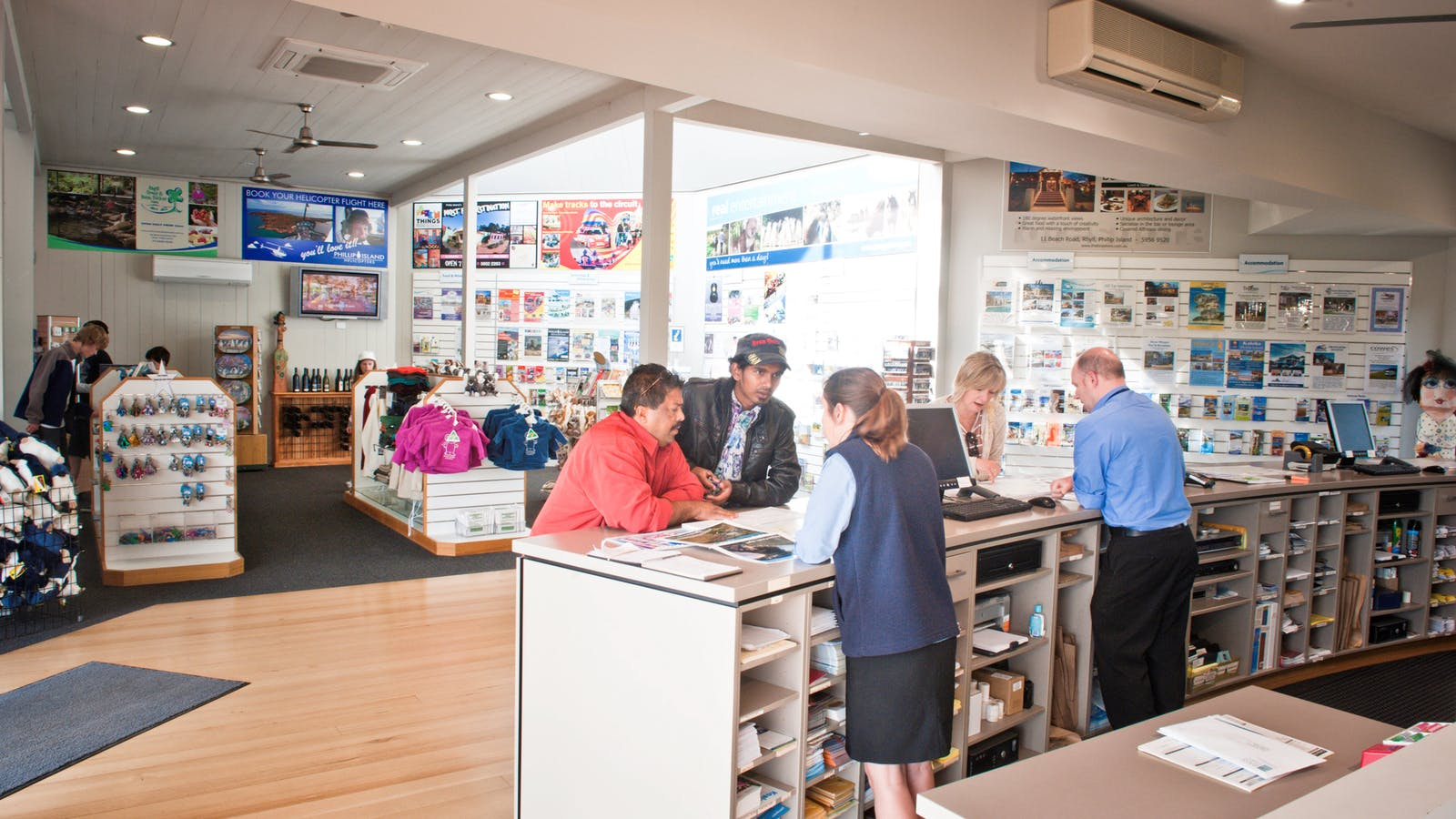 Shopping and information service at the Phillip Island Visitor Information Centre