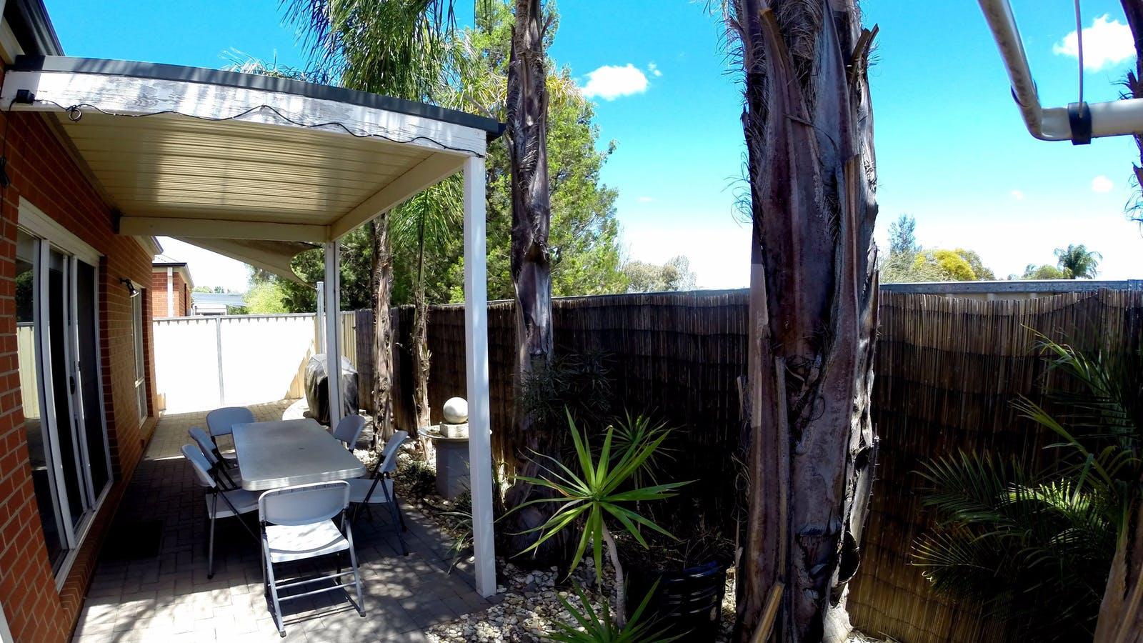 Rear enclosed courtyard at 1/393