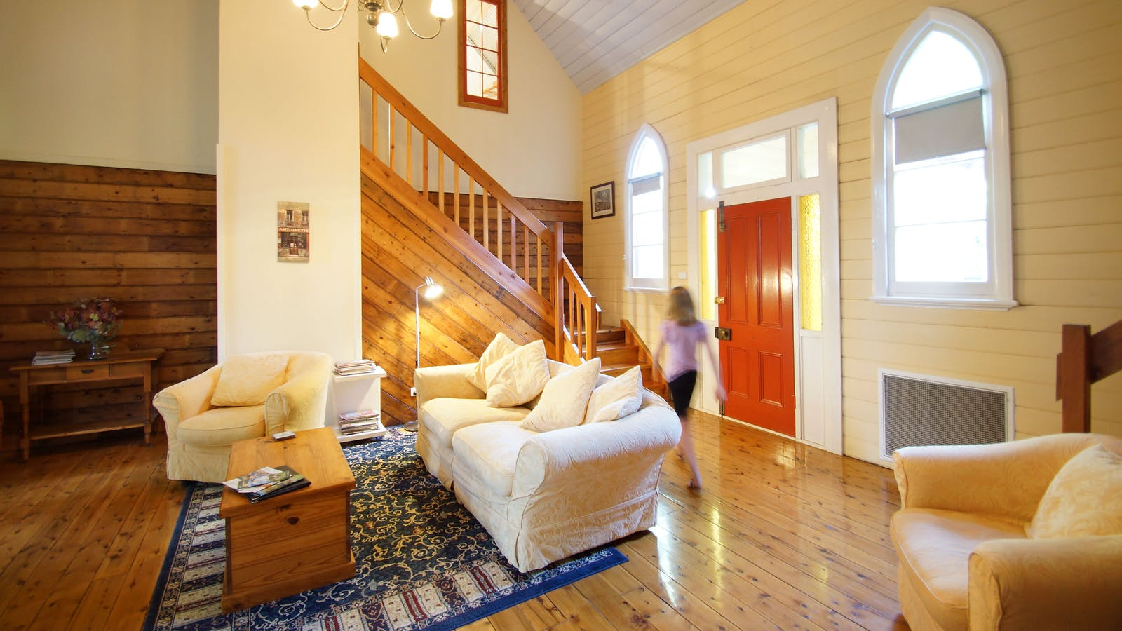 Comfortable lounges and high ceilings creates a relaxing home away from home