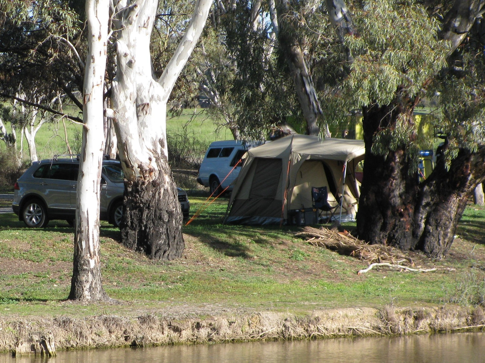 Camping on the rivers edge