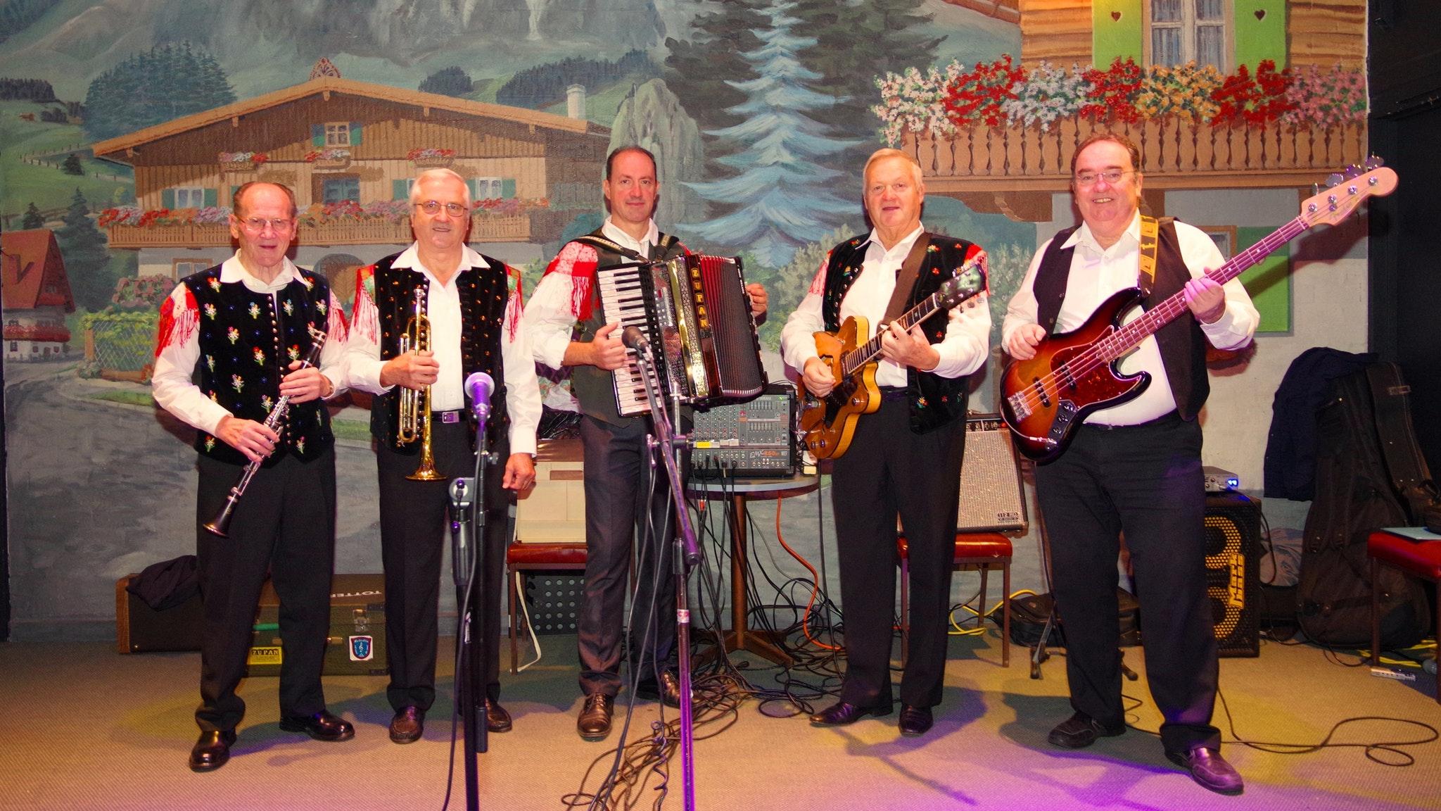 German Austrian band 'The Oberkrainers'