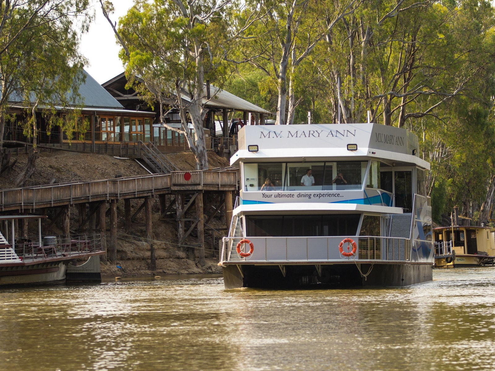 Passing by the Echuca Wharf at The Port of Echuca.