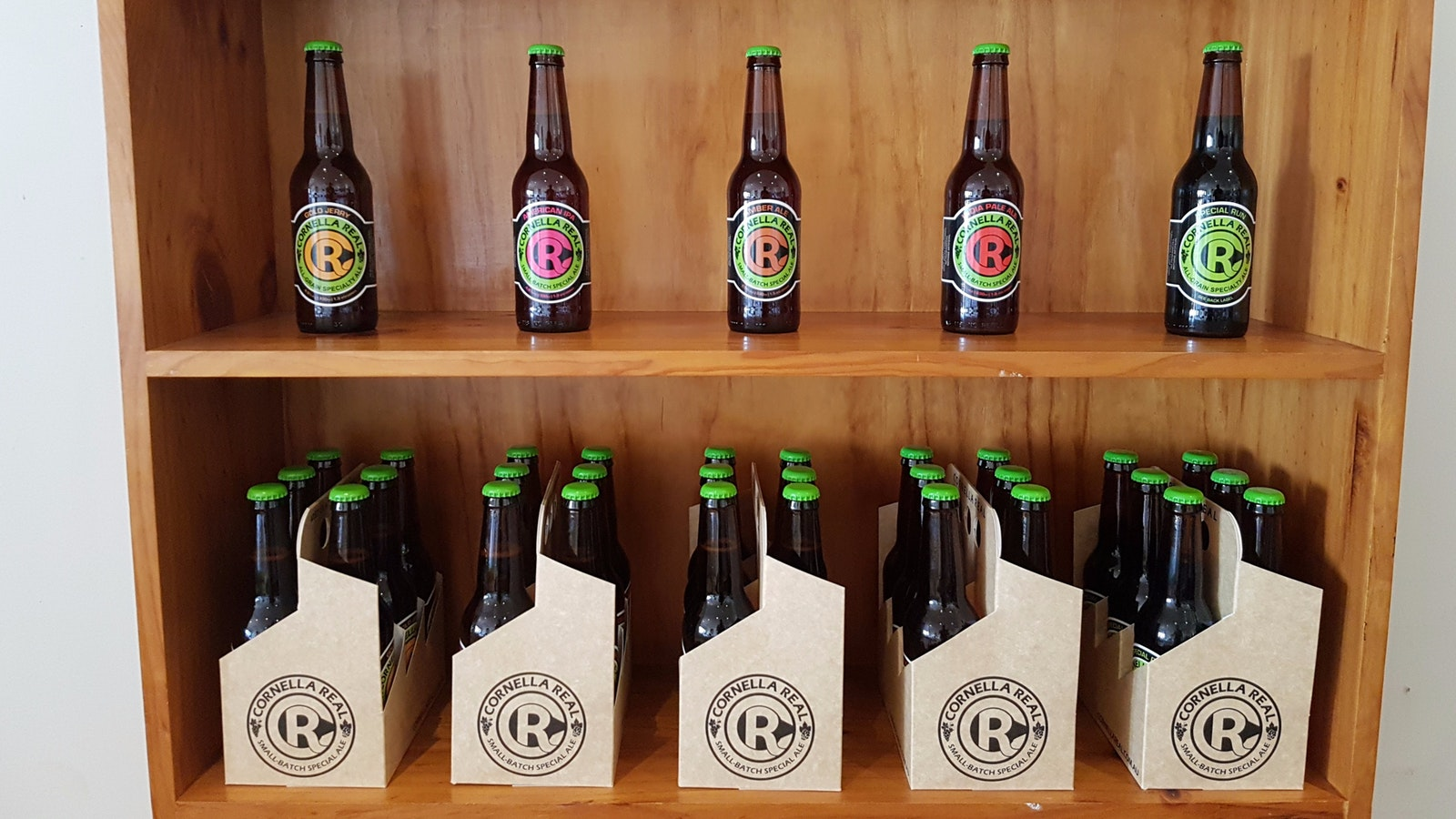 Our ever rotating stock of beer is available from our cellar door.
