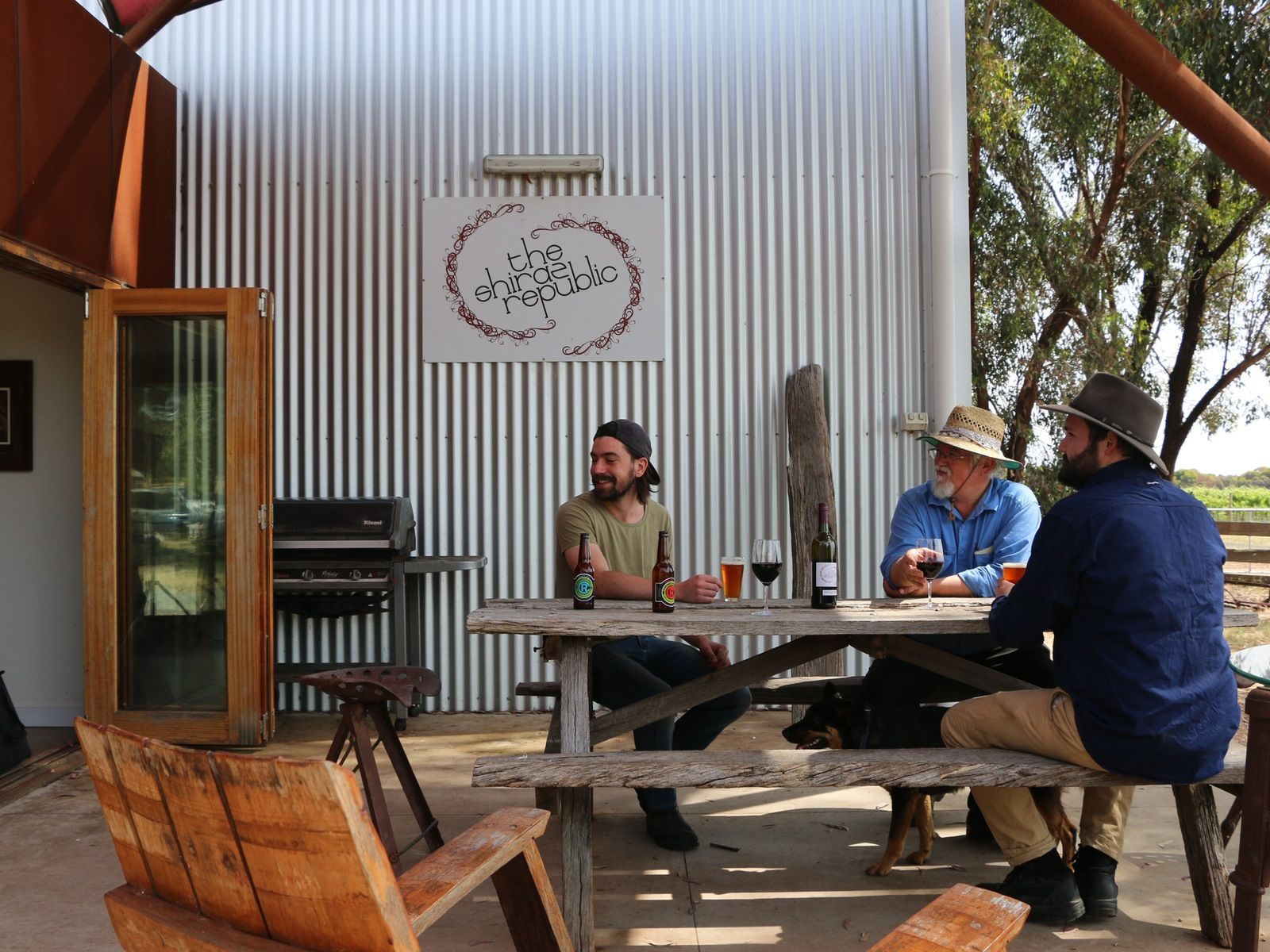 Drop in for a beer or a wine and relax at our cellar door overlooking 25-acres of vines.