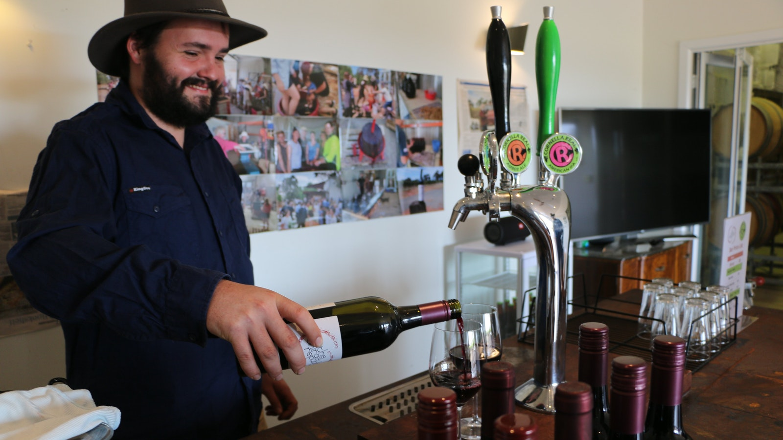 Choose from a vertical tasting of our wine, some cleansing ales - or both!