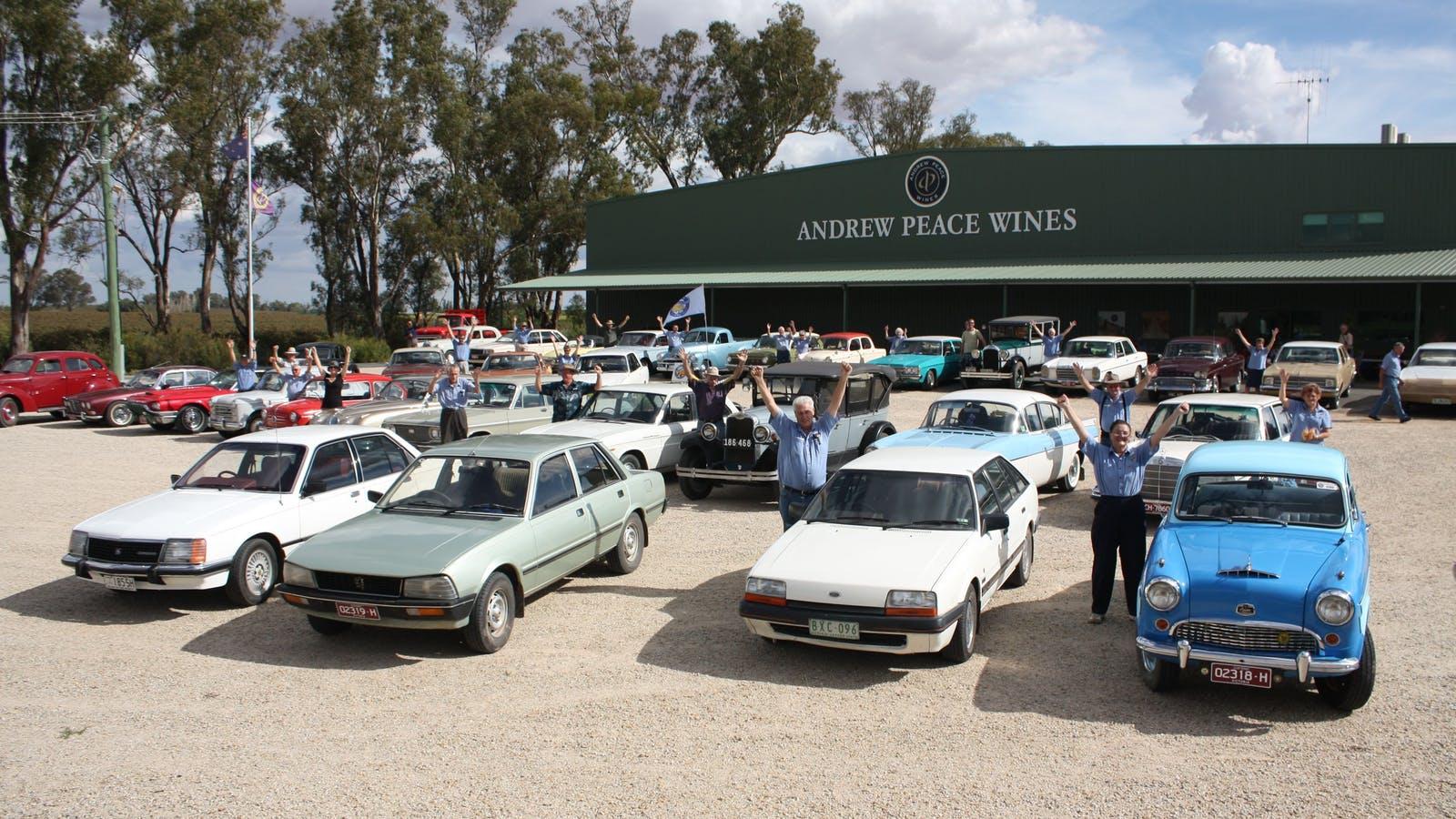 Vintage car clubs visit regularly