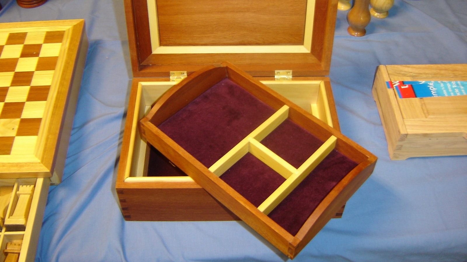 Jewellery Box made from Rose Wood, Blackwood & Huon Pine, finished with Organ Oil.