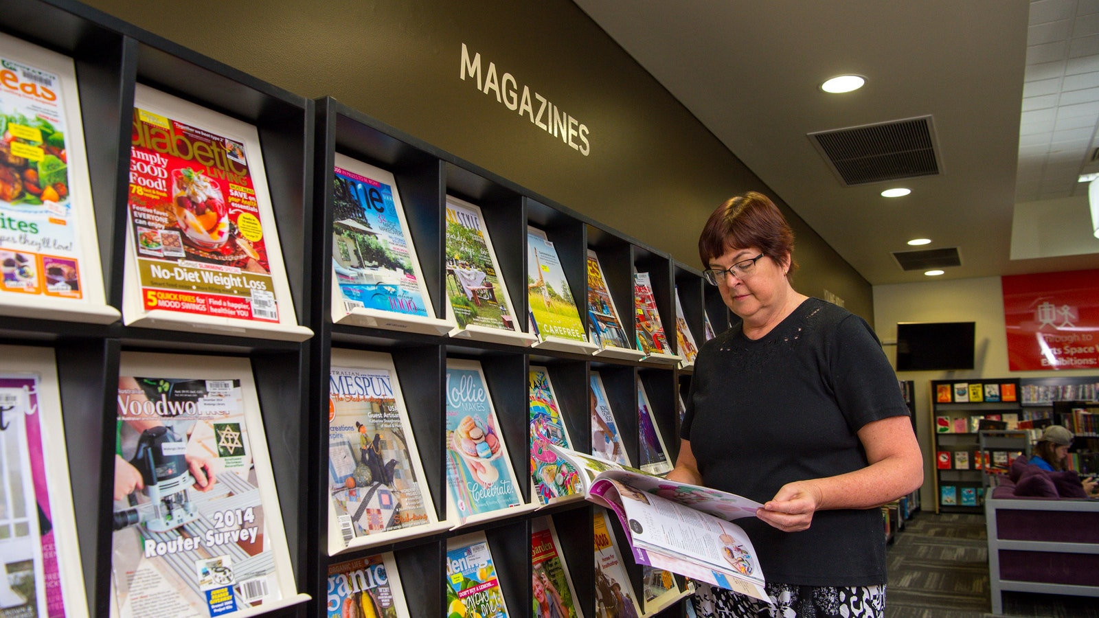 Magazine collection at Wodonga Library