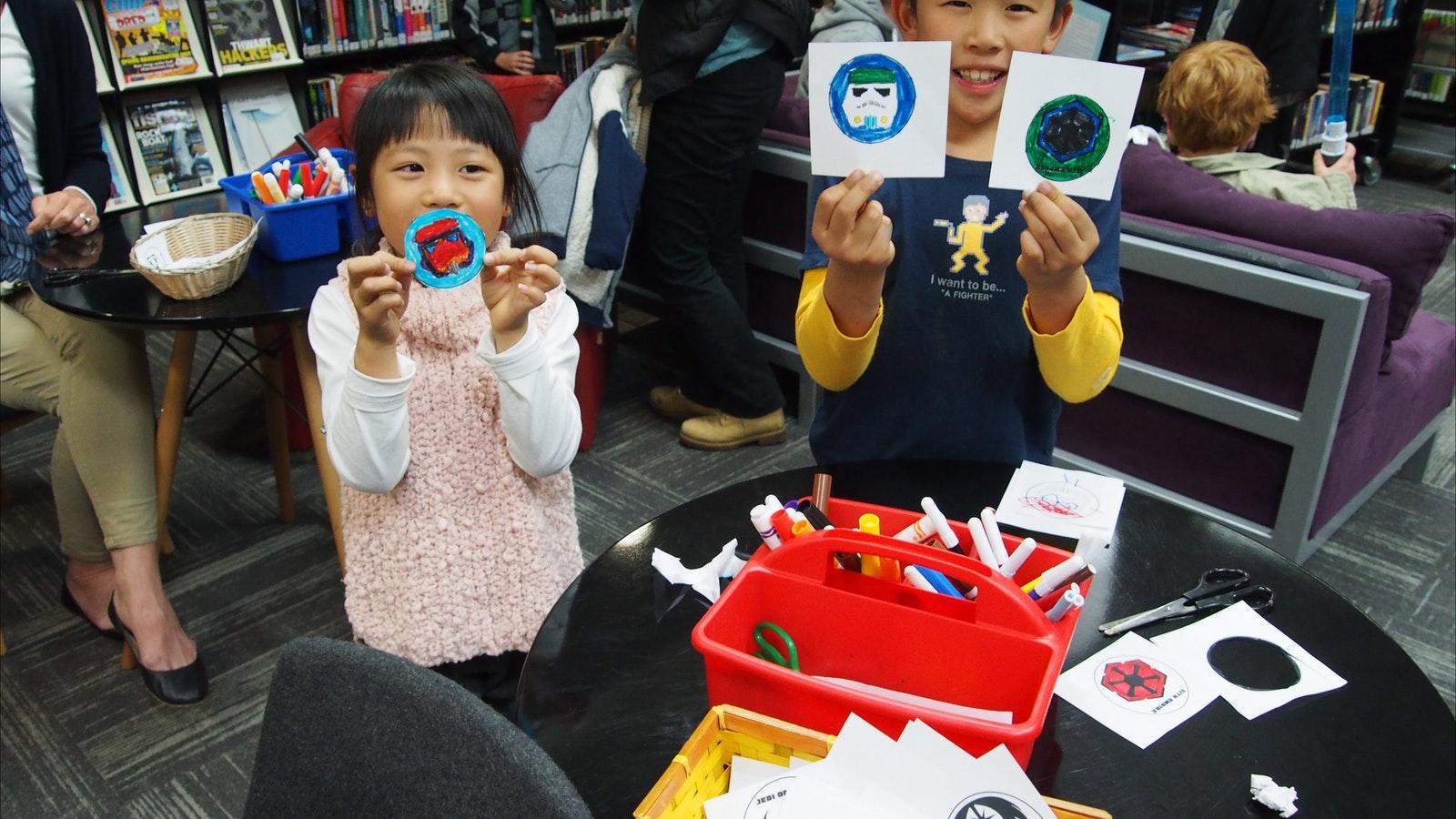 Childrens activity at Wodonga Library