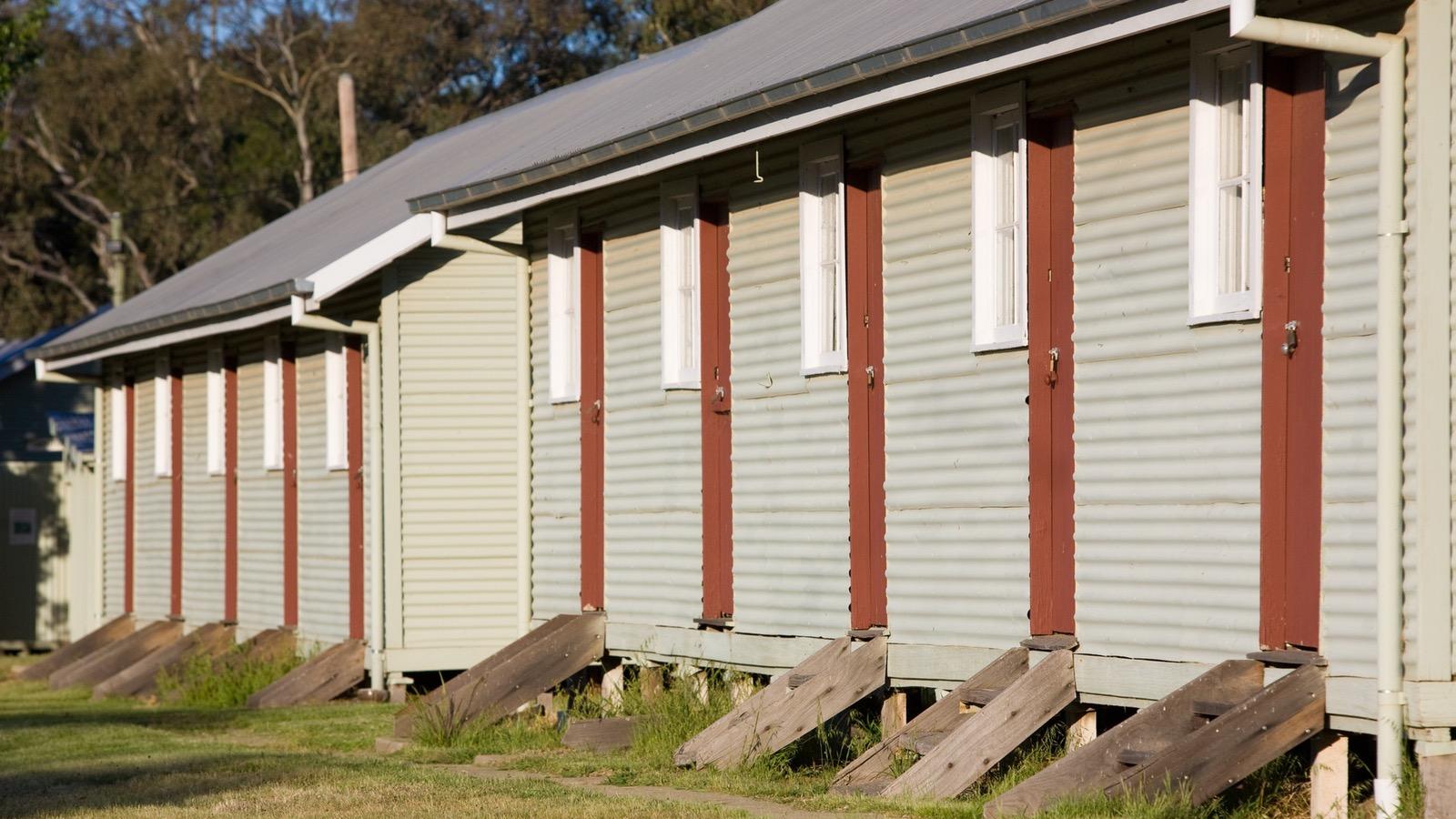 Remnant hut at Block 19