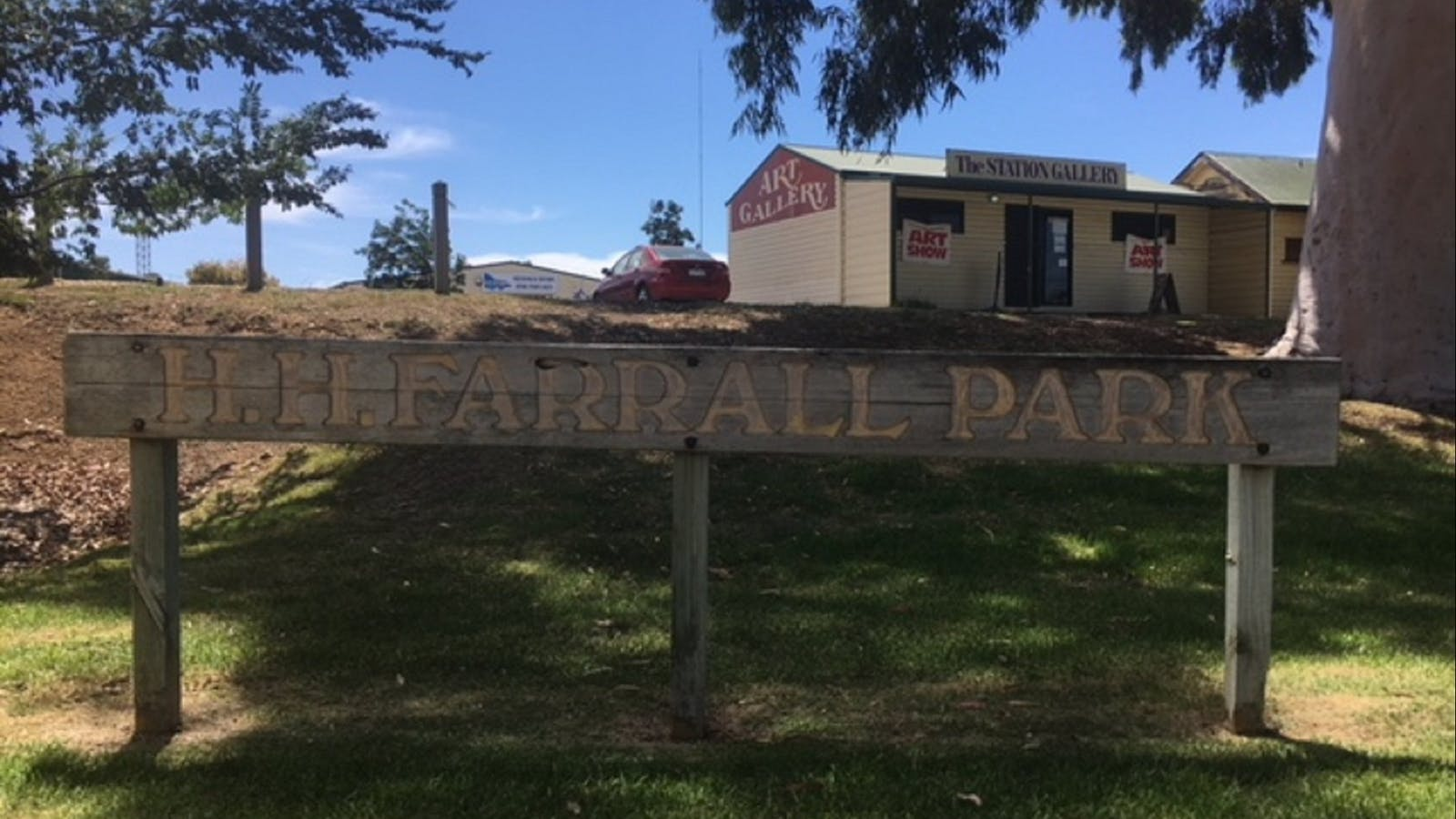 Sign at Federation Park Cobarm