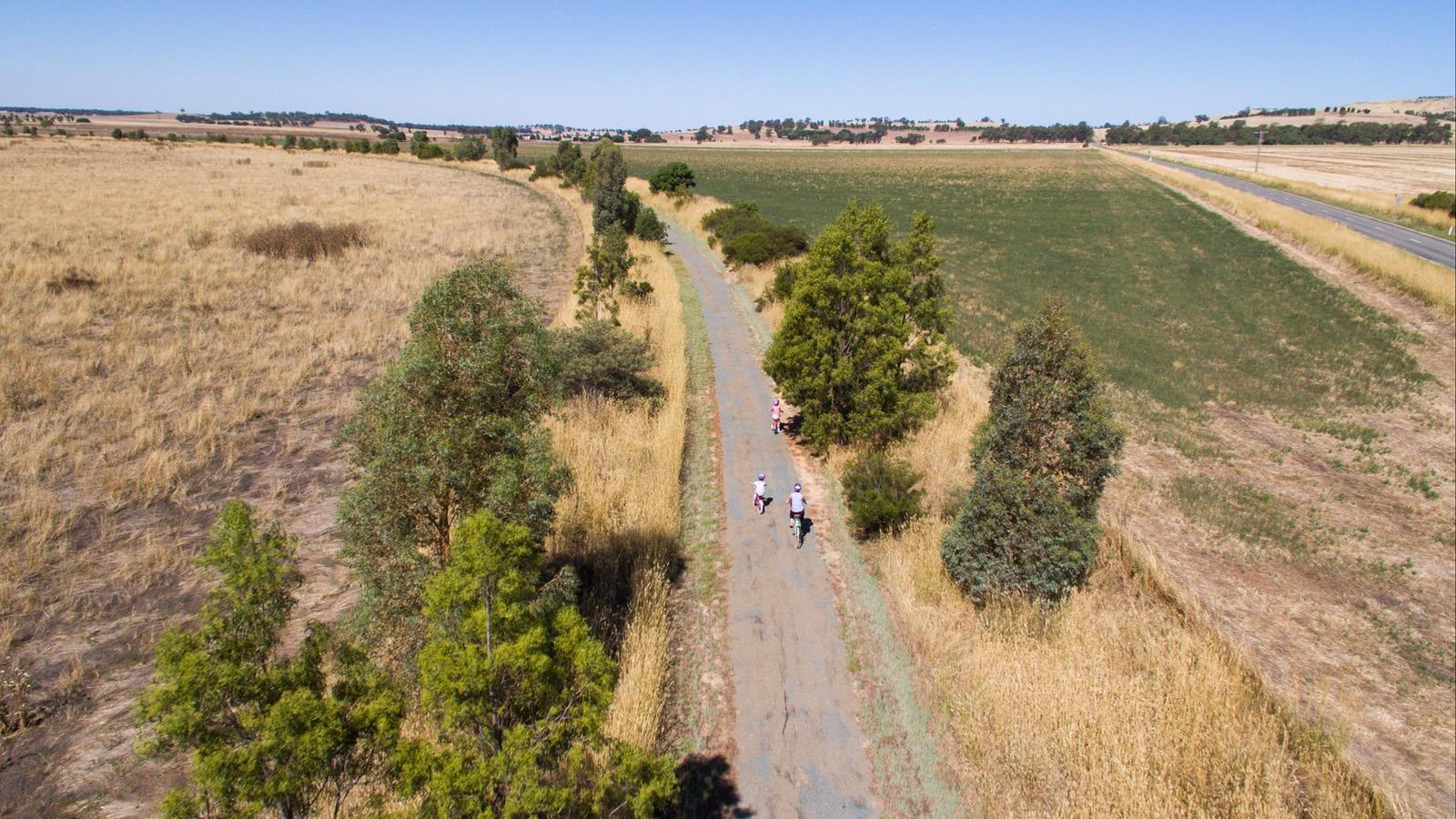 Dookie Rail Trail - aerial