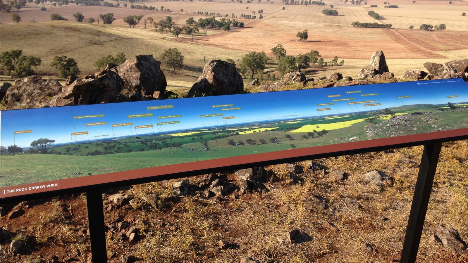 Panoramic views on Rock Correa Track at Tallis Wine