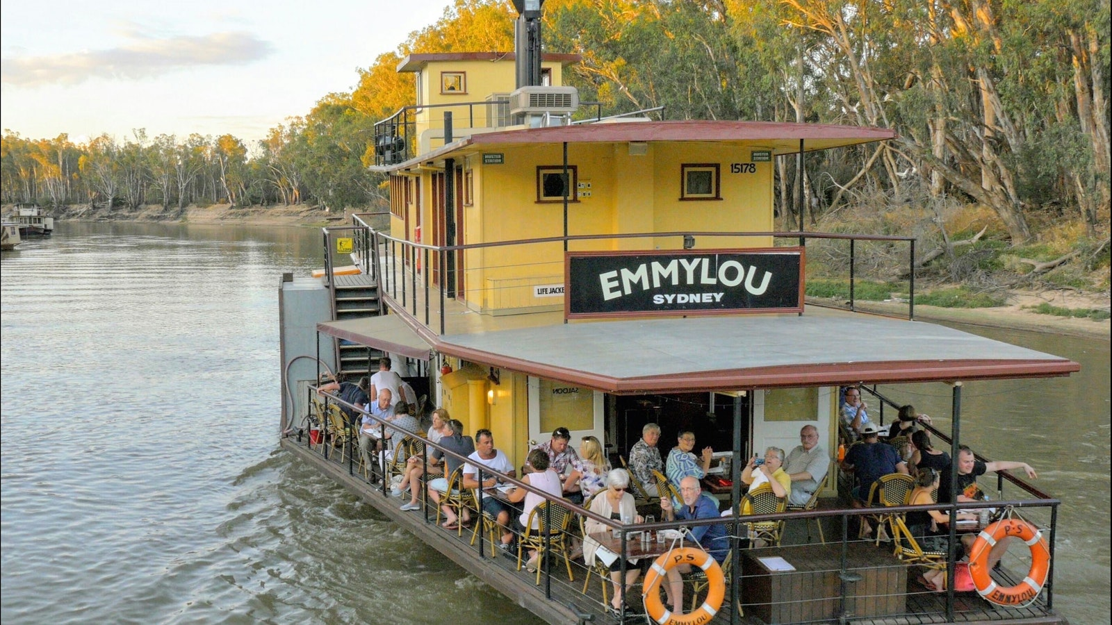 Lunch on PS Emmylou - Arial Shot