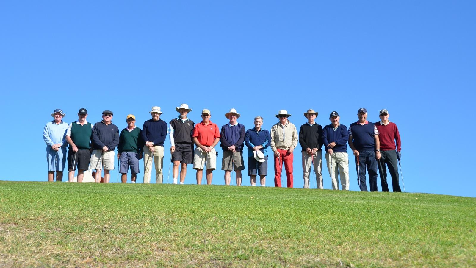 Happy golfers enjoying the blue skies and fast greens at Yarrawonga.