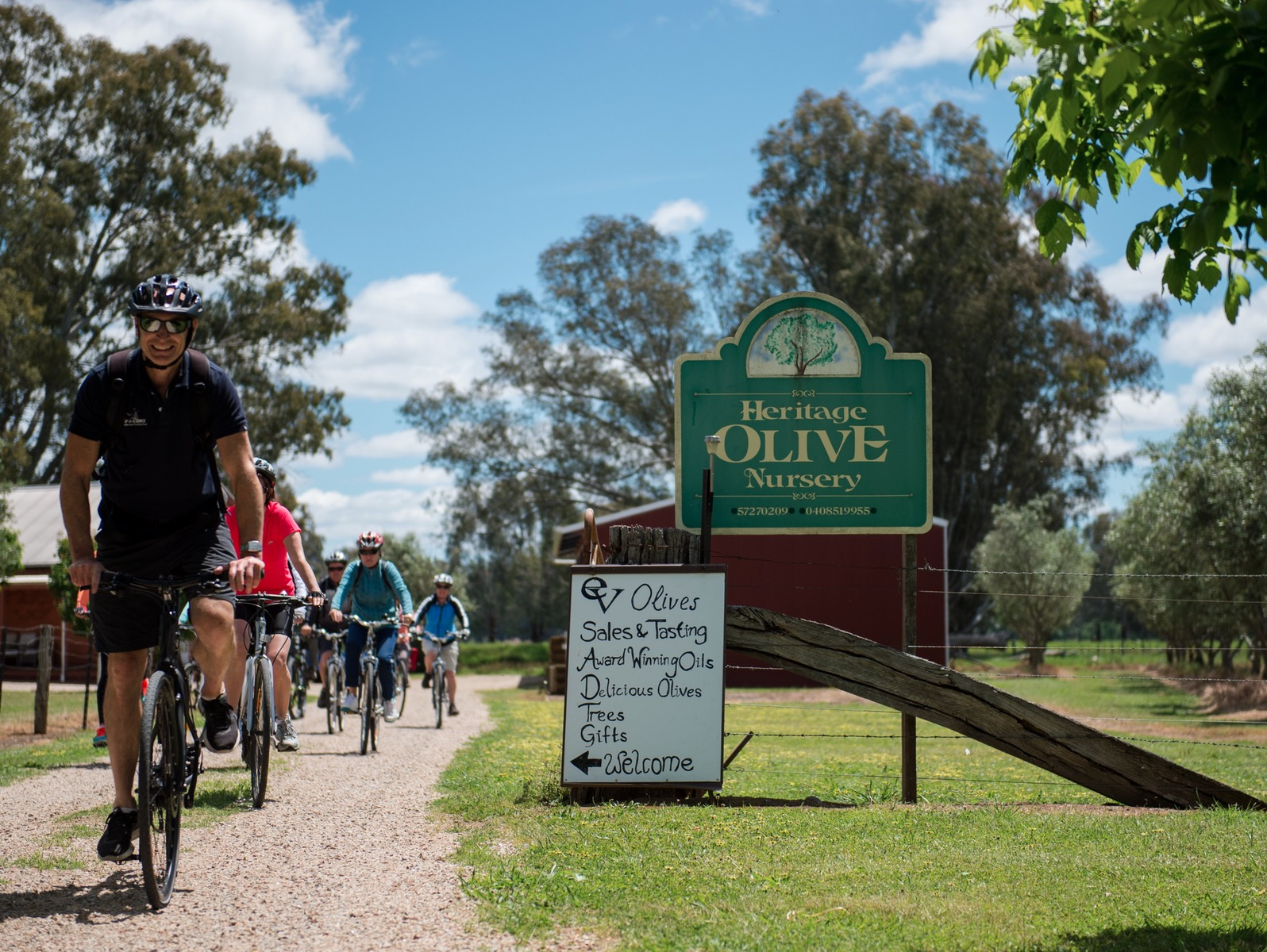 On a cycling tour in North East Victoria