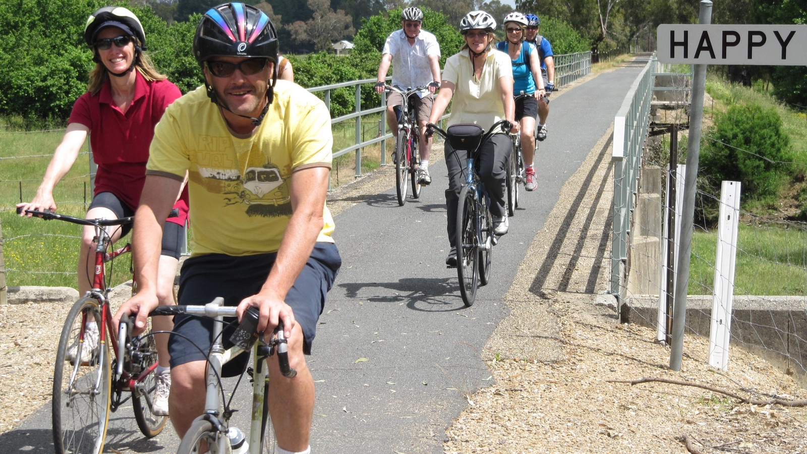 Riders with Rail Trail Cycling Tours