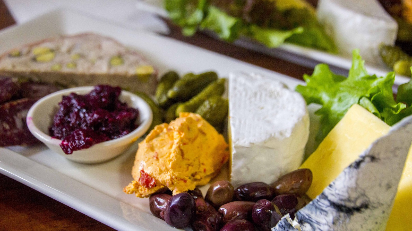 The gourmet platter at Milawa Cheese Factory