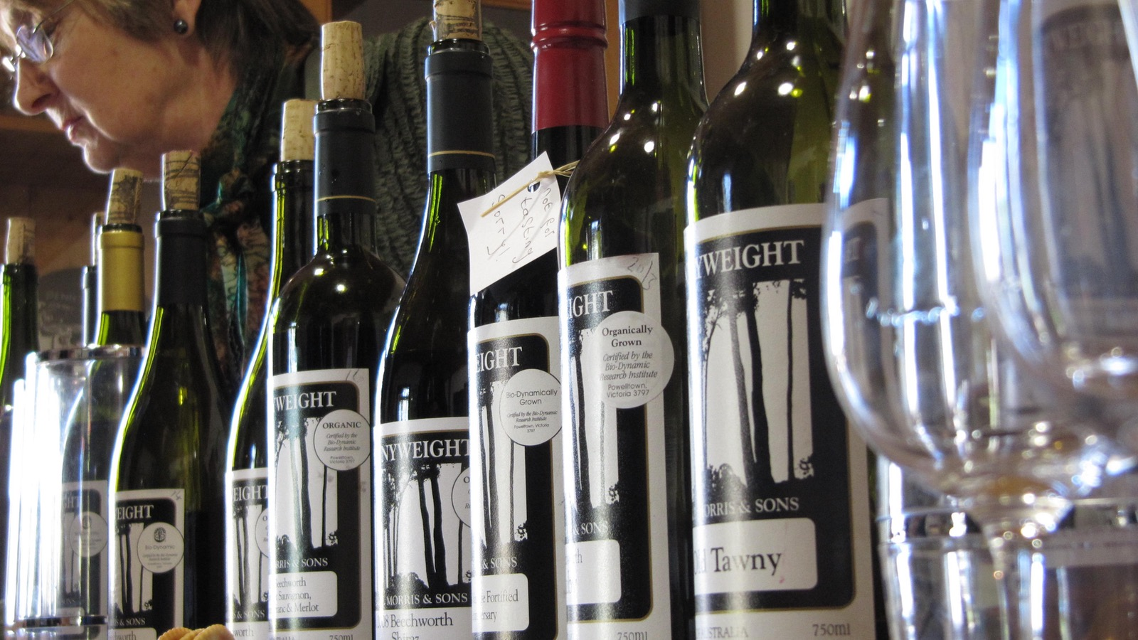 Wine tasting at Pennyweights in Beechworth
