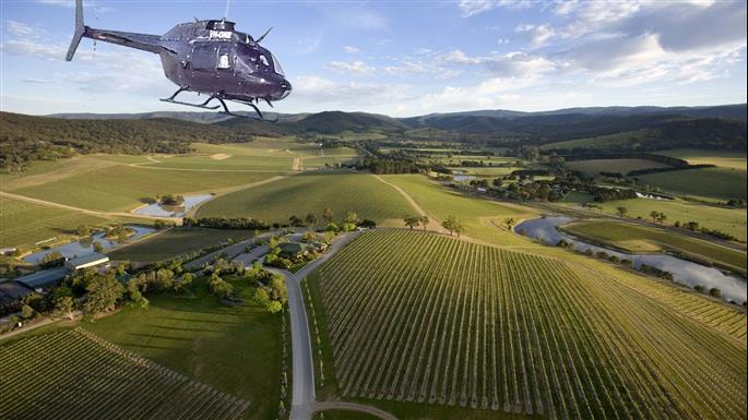 Yarra Valley Return Helicopter Flights Tour Melbourne Victoria Australia