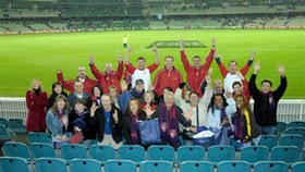 Aussie Rules Football agent group at the MCG
