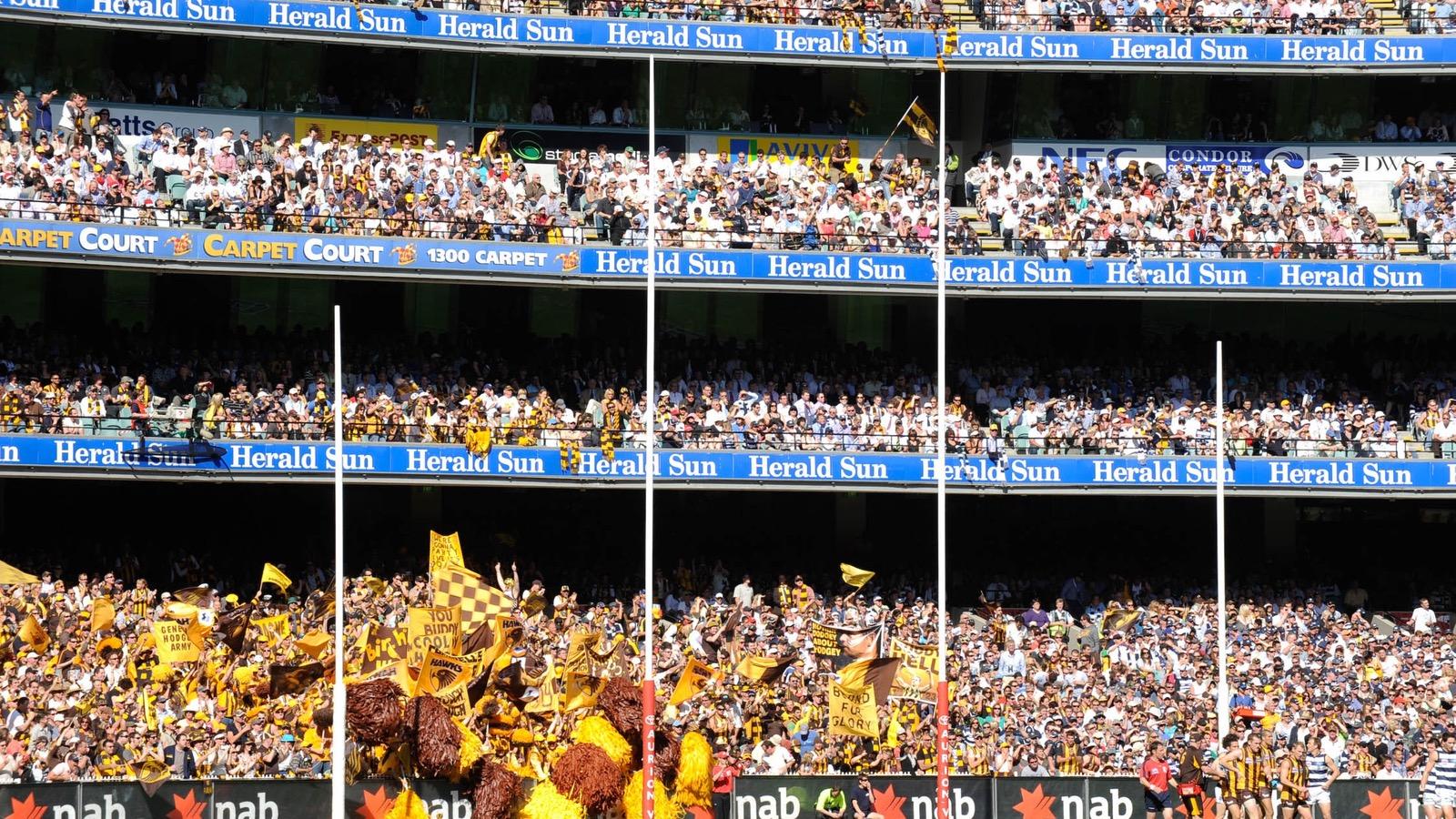 Melbourne Cricket Ground Aussie Rules Football Hawks fans