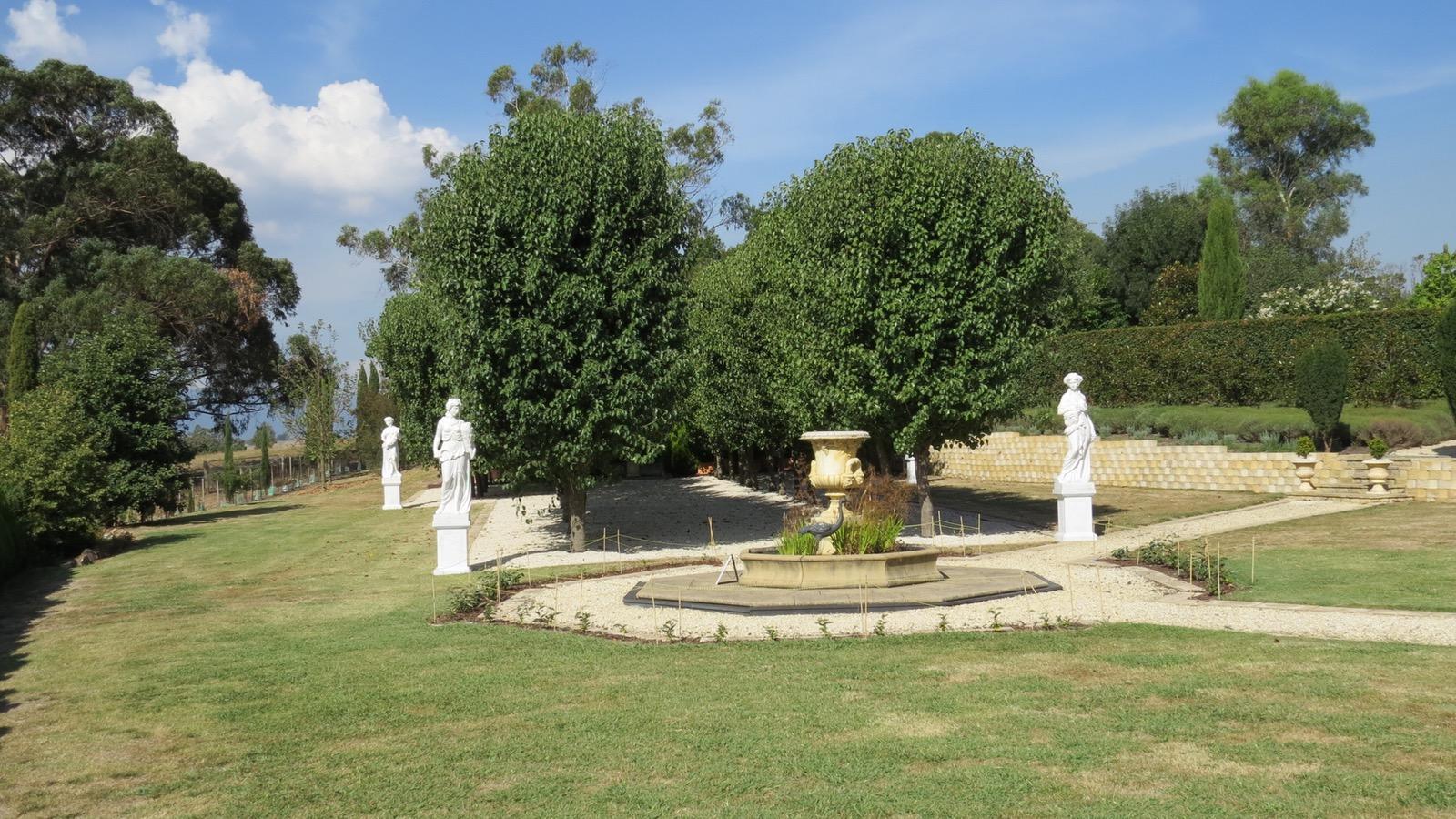 Statuary, main lawn