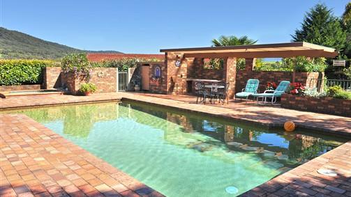 Langbrook Estate; swimming pool & BBQ area