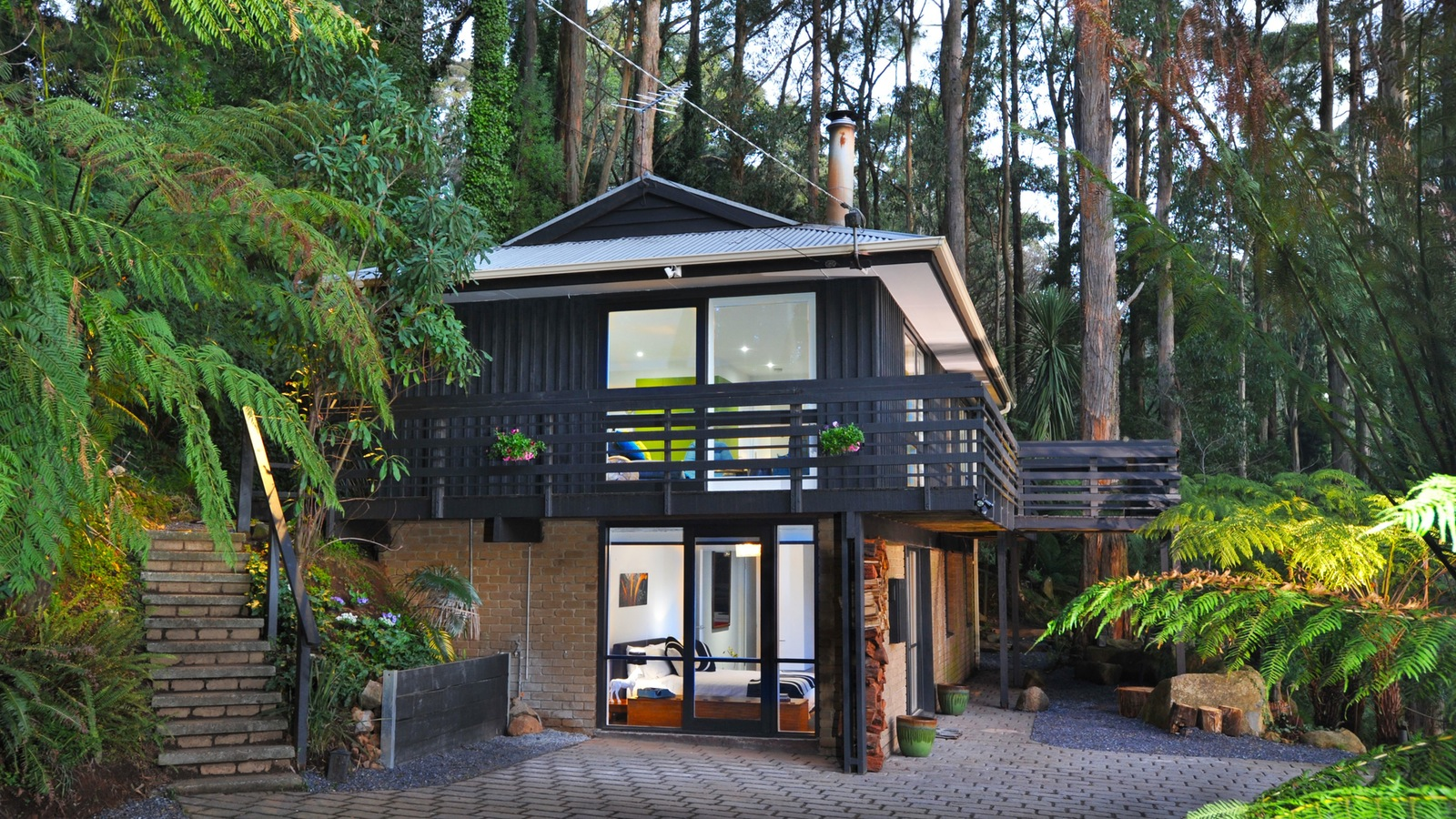 Misty Woods Retreat at the forest edge