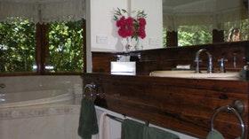 bathroom vanity and spa