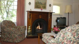 lounge and open fire