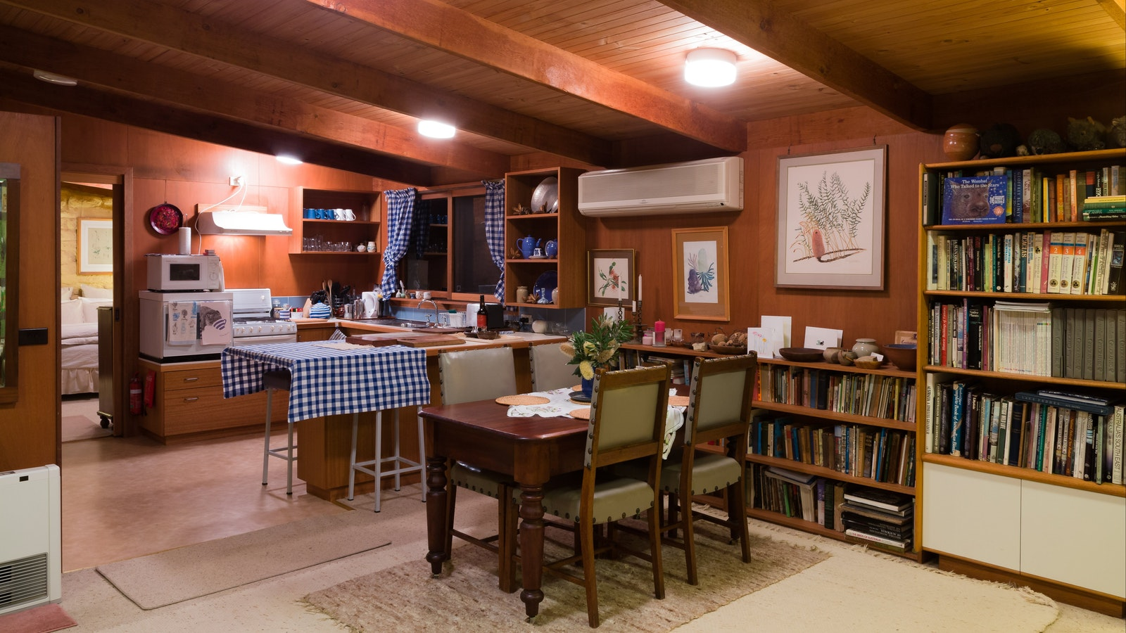 Country kitchen and dining area