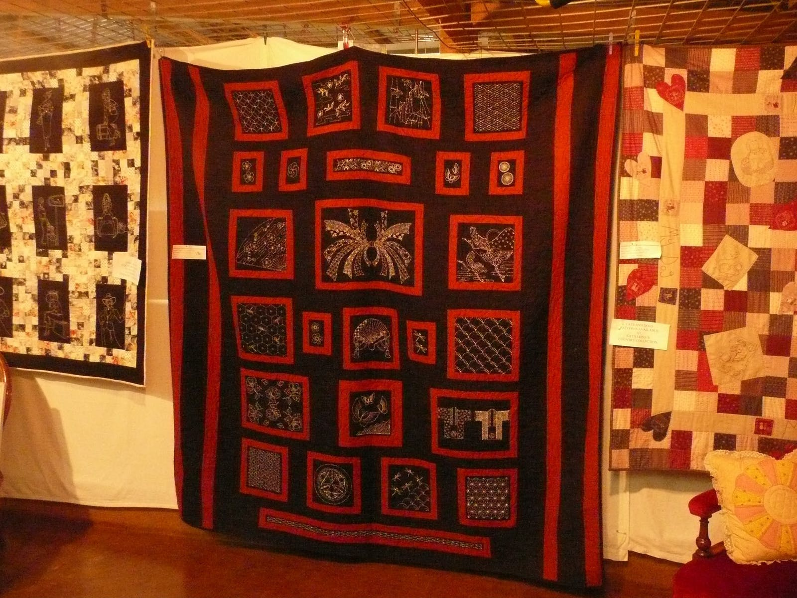 Large hand stiched patchwork quilt