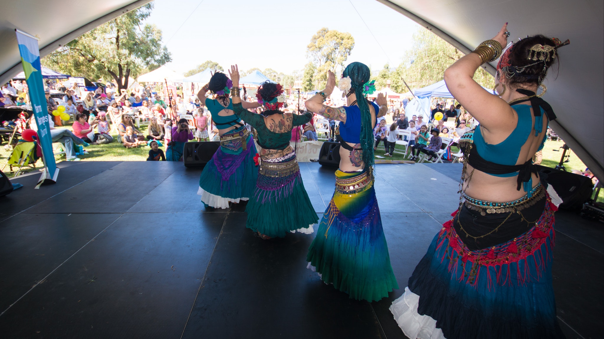 Red Earth Ghawazee Tribal Belly Dancers will be in the parade, on the main stage and roving