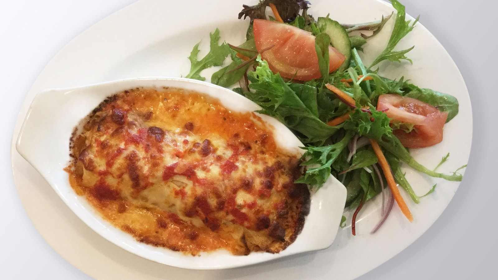 Spinach and Ricotta Cannelloni Crepe - Summer Menu