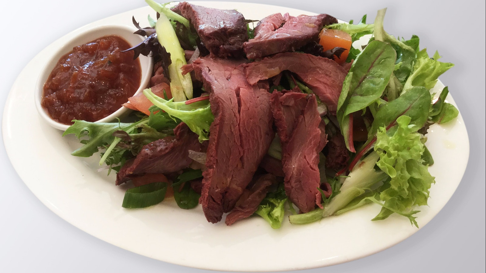 Smoked Kangaroo Salad - Summer Menu