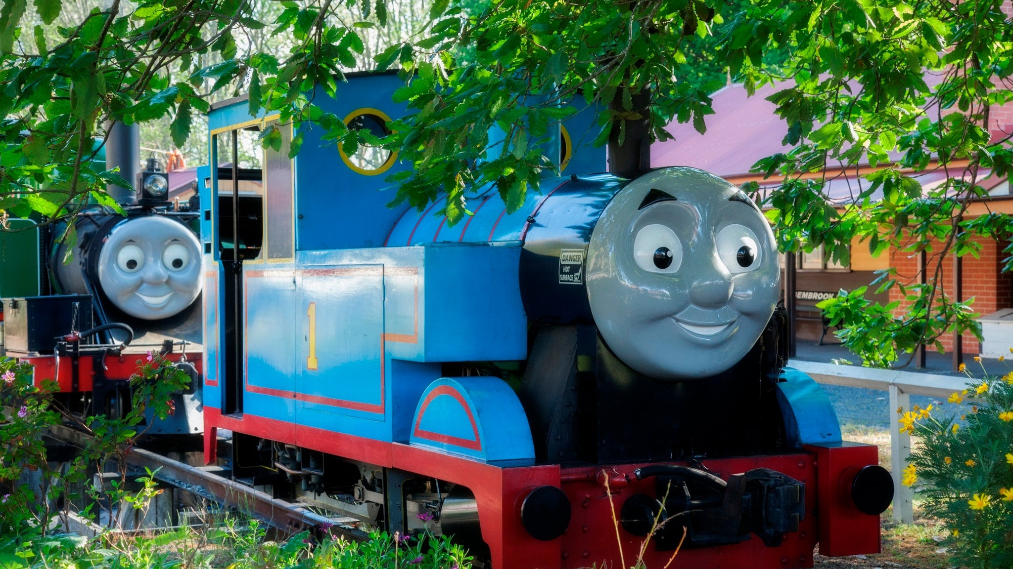 Thomas and Percy at Gembrook station