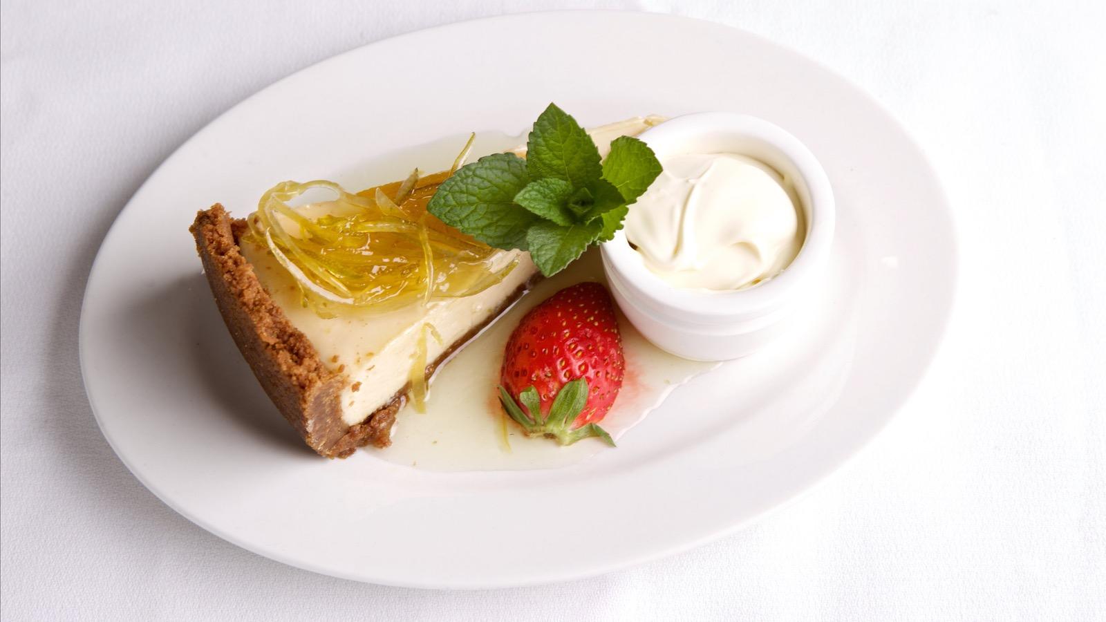 Key Lime Pie served aboard Steam & Cuisine After Dark