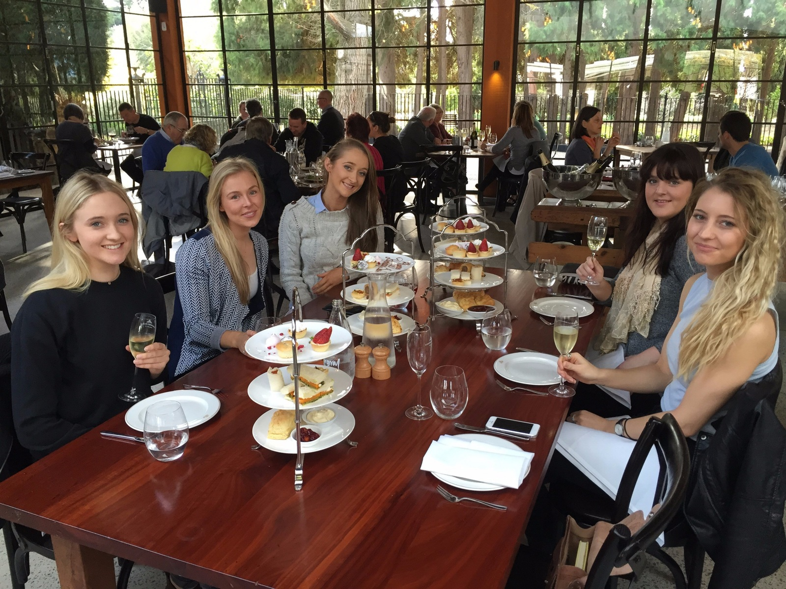 Ladies enjoying High Tea